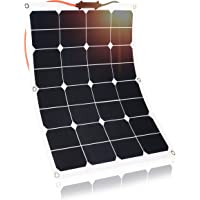 Kingsolar 50W Durable ETFE Semi Flexible Panel Solar Cargador de batería para automóvil, barco, caravana, etc.