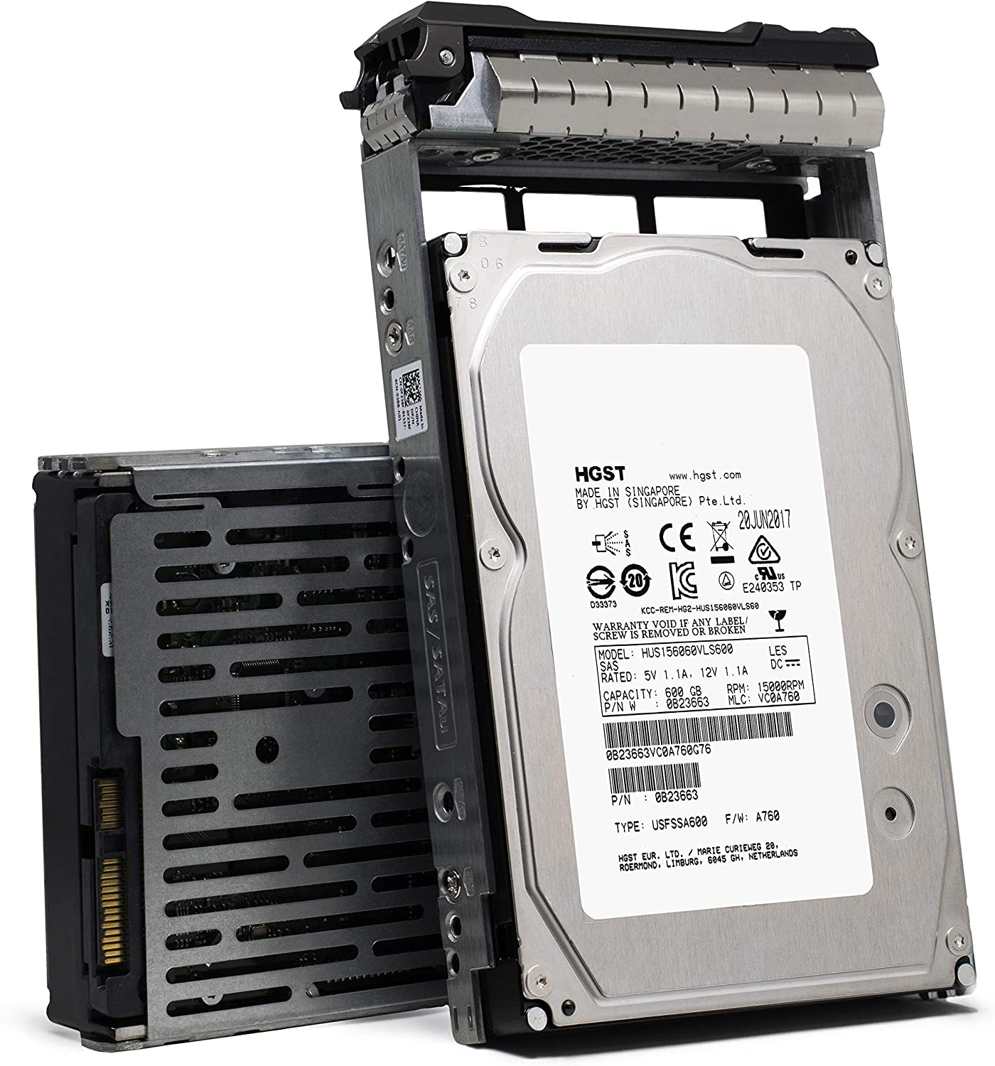 "Dell W347K 600GB 15K 16MB 6.0GBps 3.5"" Enterprise Class SAS Hard Drive in Poweredge R Series Tray"