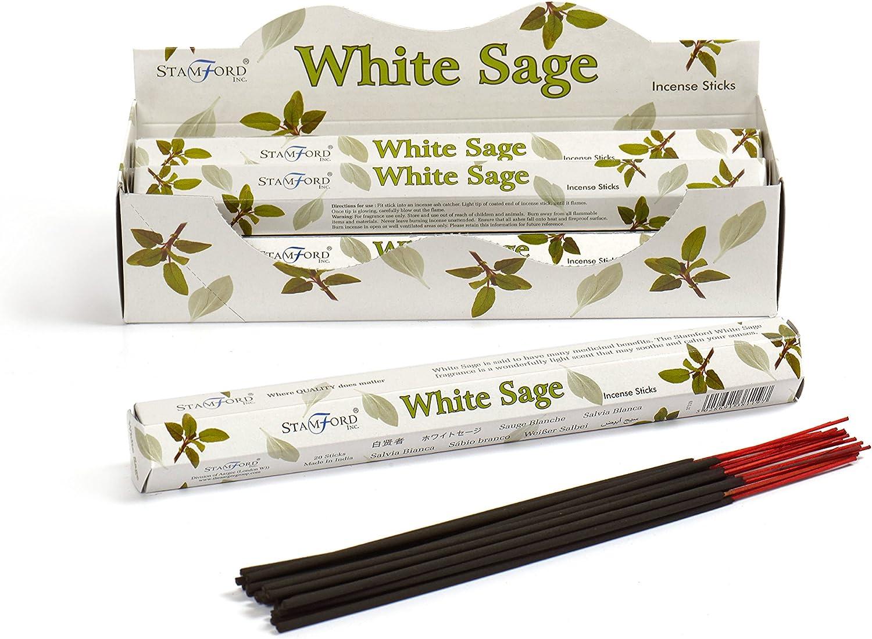 CALIFORNIAN WHITE SAGE von Green Tree Natural 180g BIG PACK Räucherstäbchen
