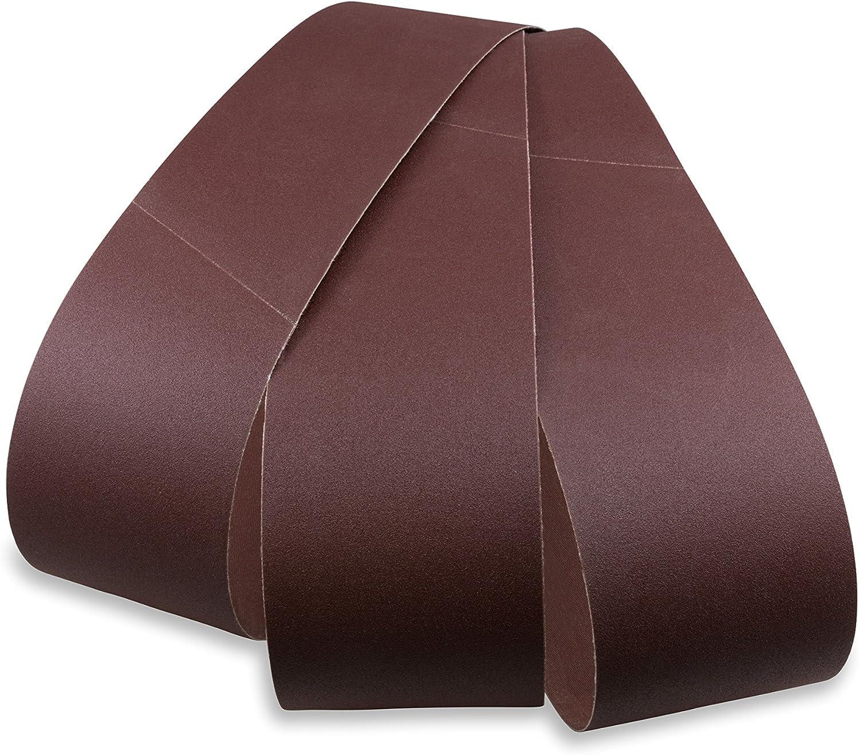 120 6 Pack 320 600 grit 2 x 48 A//O Very FineSanding Belt Assortment