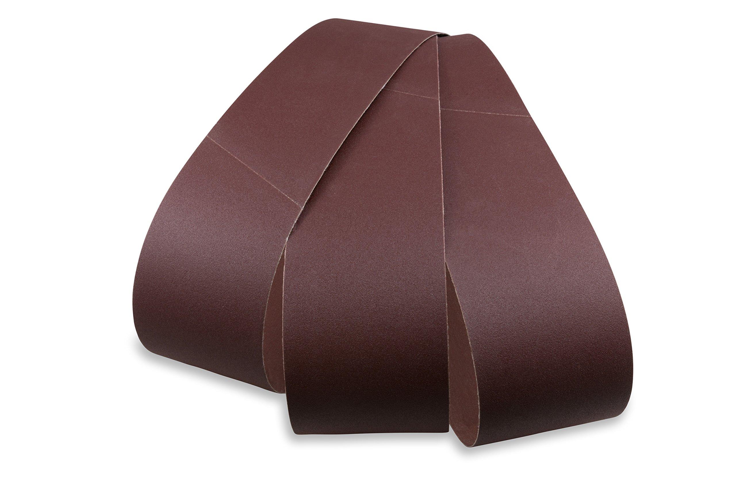 6 X 48 Inch Aluminum Oxide Premium Quality Multipurpose Sanding Belts 120, 180, 220 Grit, 3 Pack Assortment