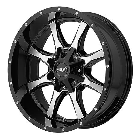 Amazon Com Moto Metal Mo970 Gloss Black Wheel Machined With Milled