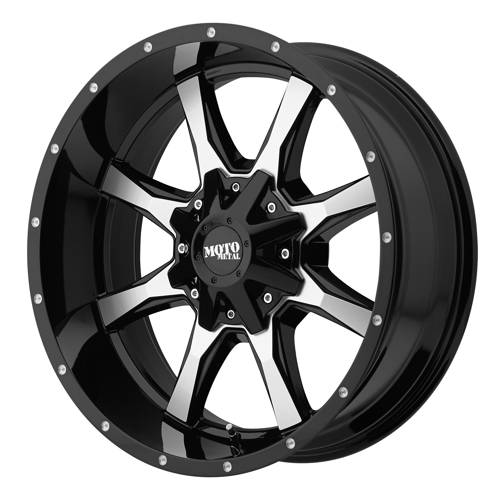 Moto Metal MO970 Gloss Black Wheel Machined With Milled Accents (18x10''/6x135,139.7mm, -24mm offset)