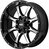 """Moto Metal MO970 Gloss Black with Machined Face (16x8""""/6x135,139.7mm, 00mm offset)"""