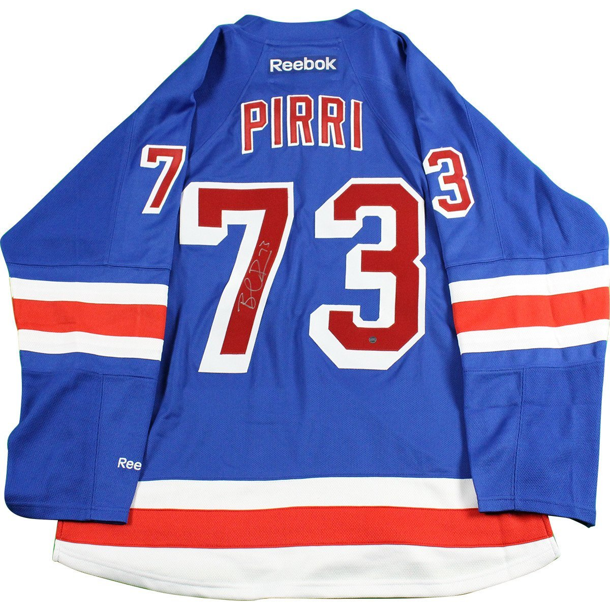 Brandon Pirri Signed New York Rangers Blue Premier Jersey at Amazon s  Sports Collectibles Store 6c288519d