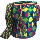 Wayuu Mochila Traditional Ethnic Bag -Large- 100% Real Crochet Hand Woven in Colombia