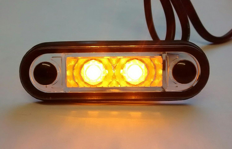 HELLA TIPO LED FLUSH FIT KELSA BAR LAMPADA 12 V-24 V LAML001 AMBRA