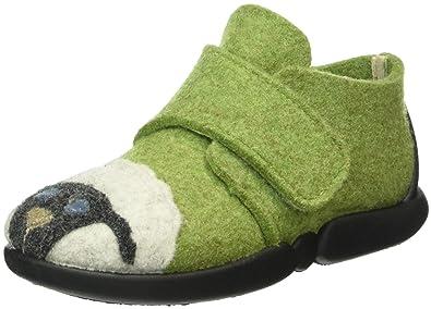 RohdeTubbie - Pantuflas sin Forro Niños, Color Verde, Talla 18