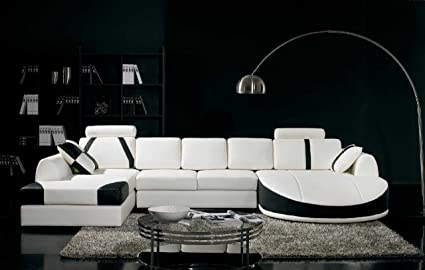 Modern white sectional sofa VG800 | Leather Sectionals