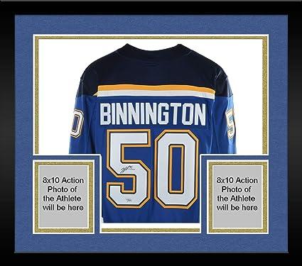 timeless design e4826 83447 Framed Jordan Binnington St. Louis Blues Autographed Blue ...