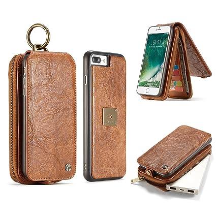 bb146ce60c5 Teléfono Celular Carcasas Fundas, Funda de billetera multifunción de cuero  de lujo retro ranuras portátil