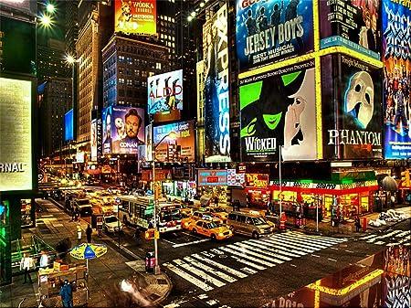 New York City Times Square Hintergrund Hochwertigen Kamera
