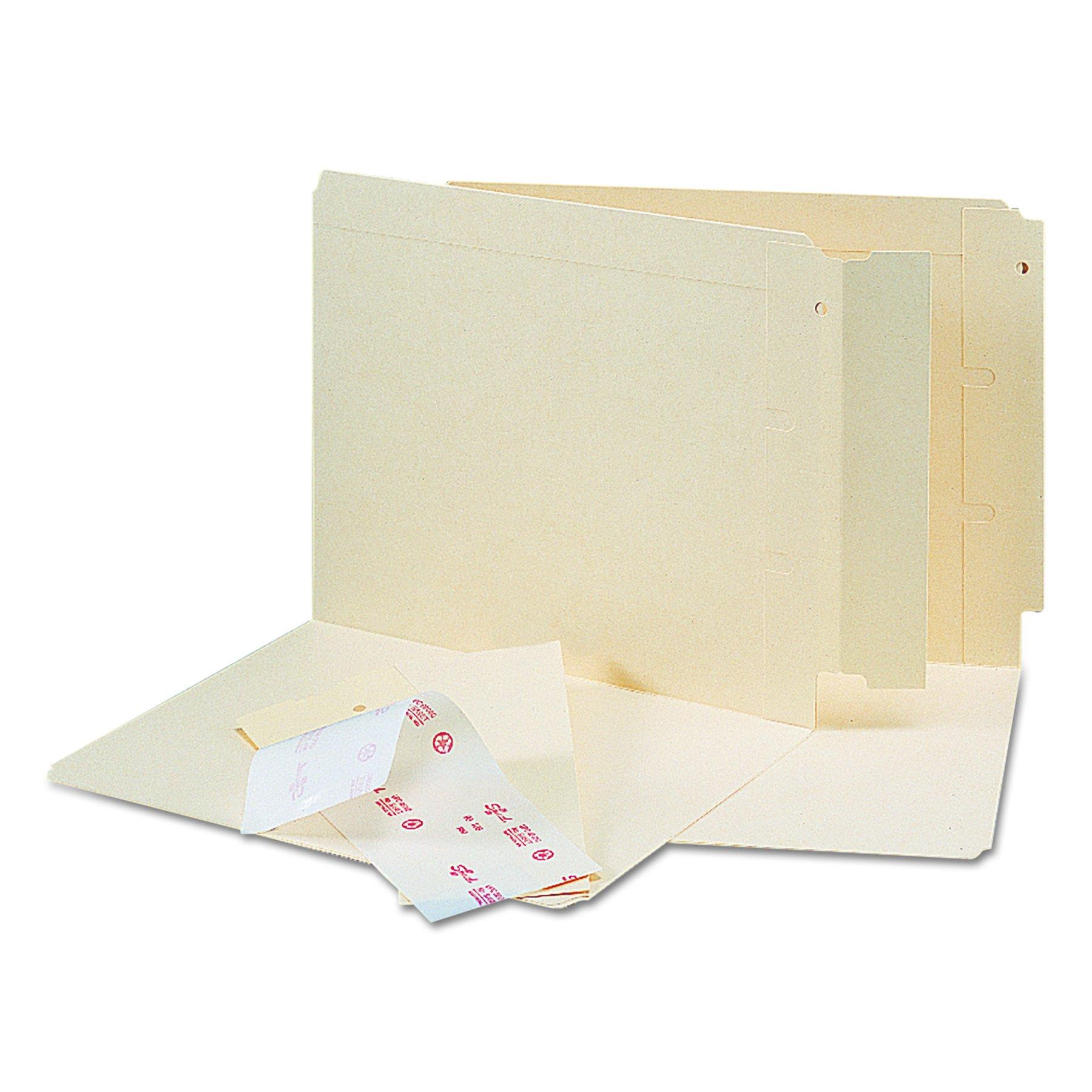 Smead Folder End Tab Converter, Reinforced 8'' High Tab, Letter/Legal, Manila, 500 per Box (68080) by Smead (Image #1)