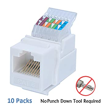 amazon com idc rj45 cat6 cat5e tool less no punch down tool rh amazon com