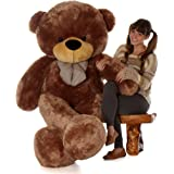 Giant Teddy brand 6 Foot Life Size Mocha Color Big Plush Teddy Bear Sunny Cuddles