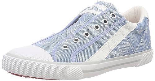 s.Oliver 54107, Zapatillas sin Cordones para Niñas, Azul (Denim Star), 40 EU