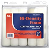 Quali-Tech 6FOAMQ-10 6-Inch Rollerfoam Hi-Density Foam Rollers Contractor Pack Mini Rollers