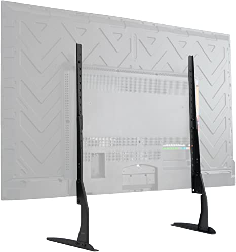 Vivo Universal Tabletop Tv Stand For 22 To 65 Inch Lcd Flat Screens Vesa Mount With Hardware Included Home Kitchen