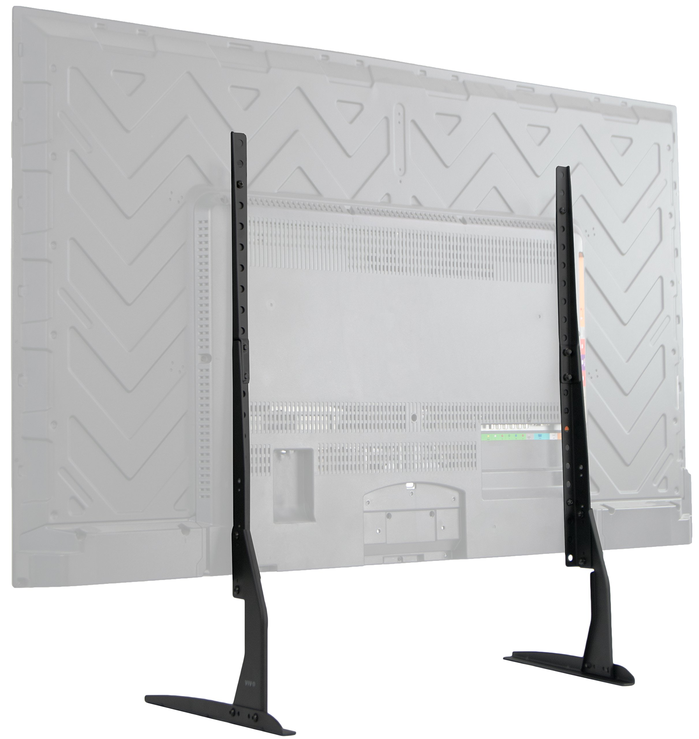 VIVO Universal LCD Flat Screen TV Table Top VESA Mount Stand Black | Base fits 22'' to 65'' (STAND-TV00Y)