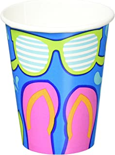 Summer Splash Cups for Hot or Cold Drinks Hawaiian Luau Beach Party Disposable Picnic Drinkware  sc 1 st  Amazon.com & Amazon.com: Amscan Summer Splash Dinner Plates Hawaiian Luau Beach ...