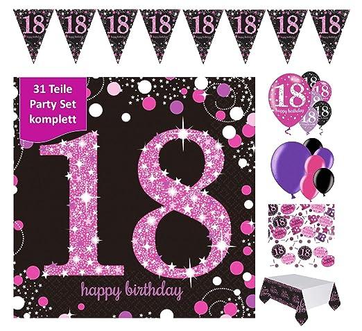 Decoración completa para el 18º cumpleaños, cumpleaños ...
