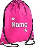 EMBROIDERED Personalised STAR Drawstring GYM Bag, Any Name, Gym ,School, Nursery, Swim ,PE, Dance Kit,