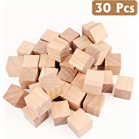 Bloques de Madera (30 Piezas) - DIY Cubos