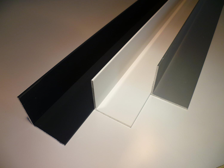 Winkelschiene anthrazit RAL 7016 190 cm lang B/&T Metall Aluminium Winkel pulverbeschichtet 30 x 20 x 2 mm