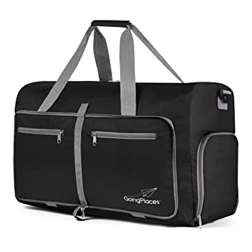 ec5b746bb7b0 Going Places Packable 60L Duffel Bag; Gym & Sports for Women and Men;  Weekender, Cruise Bag (Black)
