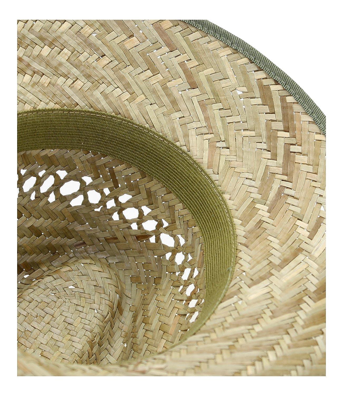 EveryHead Fiebig Sombrero De Paja Los Hombres Verano Playa Vacaciones Equin/ácea Gorro Fiesta Unisex con Banda Acanalada Un Color para FI-16468-S16-HE0 Incl Hutfibel