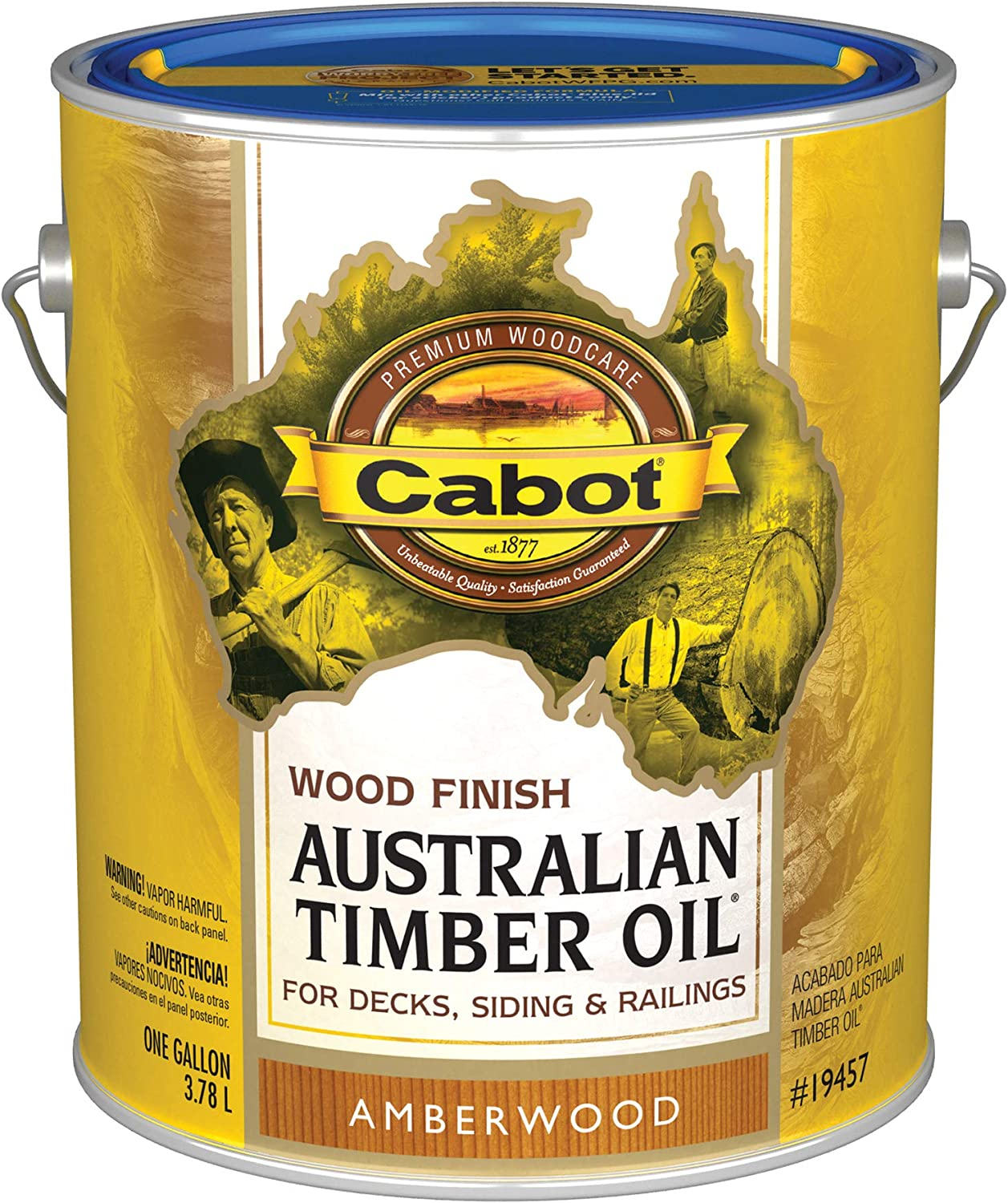 Cabot 19457-07 Samuel INC Wood Finish, Gallon, Amberwood