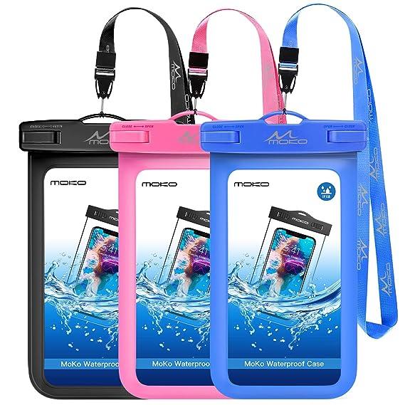 Amazon.com: MoKo - Funda impermeable para teléfono móvil, 3 ...