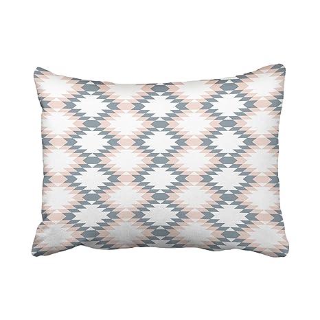 emvency Decor funda de almohada geométrico suroeste diamante ...