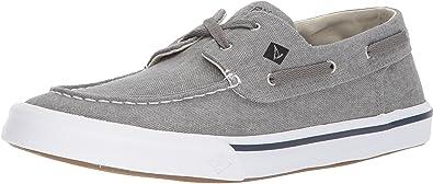 TALLA 43 EU. Sperry Bahama II Boat Washed Grey, Zapatos de Vela. para Hombre