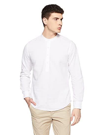 a7fe366469 United Colors of Benetton Men's Solid Slim Fit Casual Shirt