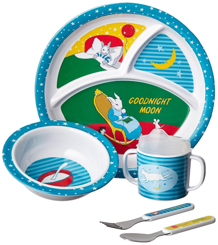 5 Piece Goodnight Moon Melamine Mealtime Set by Kids Preferred   B00BWT4AYU