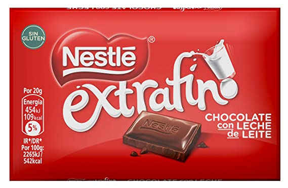 Nestlé Extrafino Chocolate con leche extrafino - 20 gr