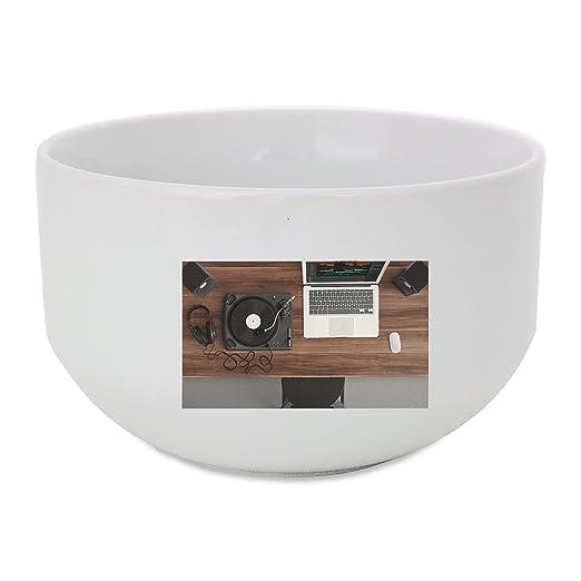 Tocadiscos, vista superior, Equipos de Audio, bol de cerámica ...