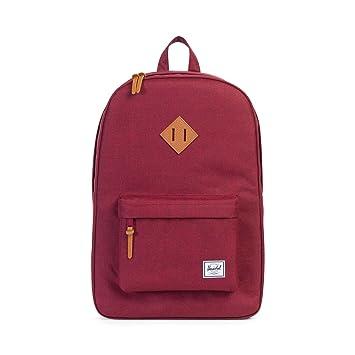 Herschel Heritage (Windsor Wine/Tan Synthetic Leather) Backpack Bags b0U2rAM6