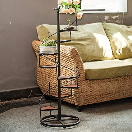 Amazon com : ZHEN GUO Black Spiral Staircase Design Plant