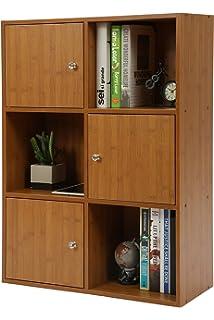 613891c193 MULSH 本棚 スライド書棚 シングル スライド式本棚 木製 おもちゃ ブックシェルフ ラック コミック 文庫 収納