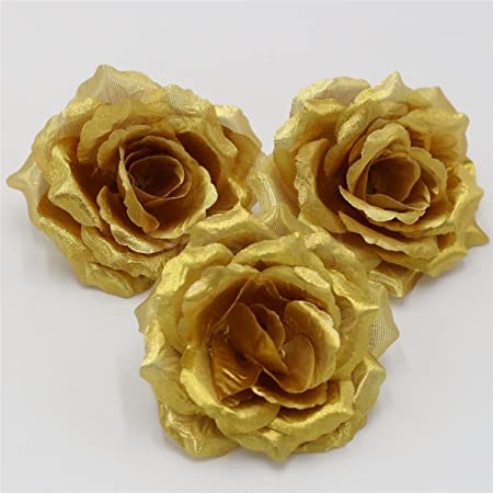Gold roses silk flowers wholesale artificial silk rose 100 heads gold roses silk flowers wholesale artificial silk rose 100 heads bulk flowers 10cm for flower wall mightylinksfo