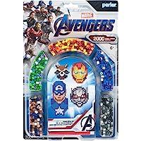 Perler Beads Marvel Avengers Pattern and Fuse Bead Kit, 2004Pc, 4 Patterns