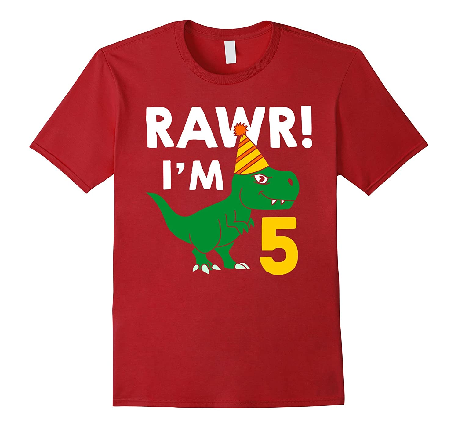 5th Birthday Boy Of Dinosaurs T Shirt 5 Years Old