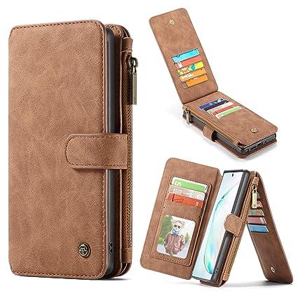 Amazon.com: Galaxy Note 10 Plus Funda tipo cartera, Note 10+ ...