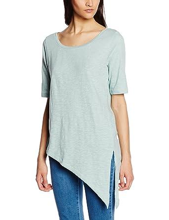 onlBOOMERANG 2/4 Normal Asymmetric Top, T-Shirt Femme, Gris (Gray Mist), 38 (Taille Fabricant: Medium)Only