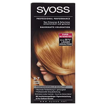 syoss professional performance coloration 8 7 honigblond 115 ml - Syoss Coloration