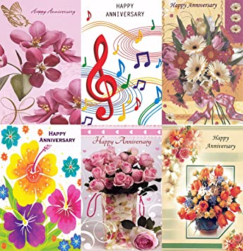 Amazon assorted happy anniversary greeting cards in a bulk 12 assorted happy anniversary greeting cards in a bulk 12 pack m4hsunfo