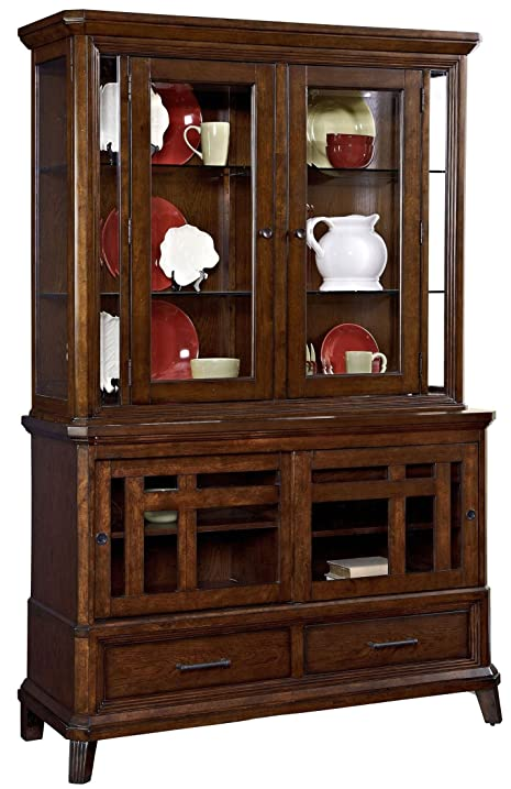 Broyhill Estes Park 4364 565 566 China Cabinet With Base And Deck In Artisan