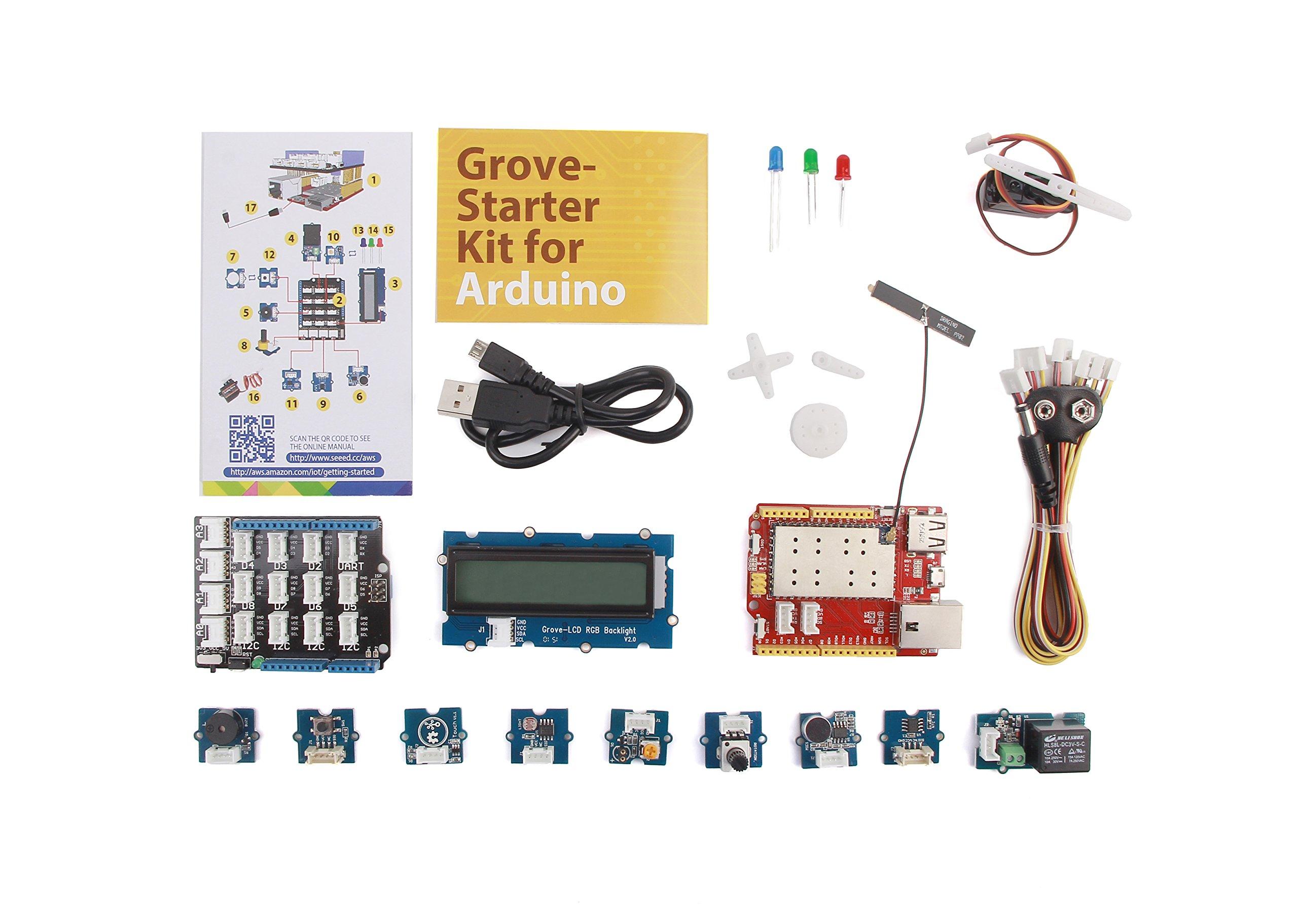 Seeeduino Cloud and Grove IoT Starter Kit Powered by AWS-Cloud Development Board-Sensorss